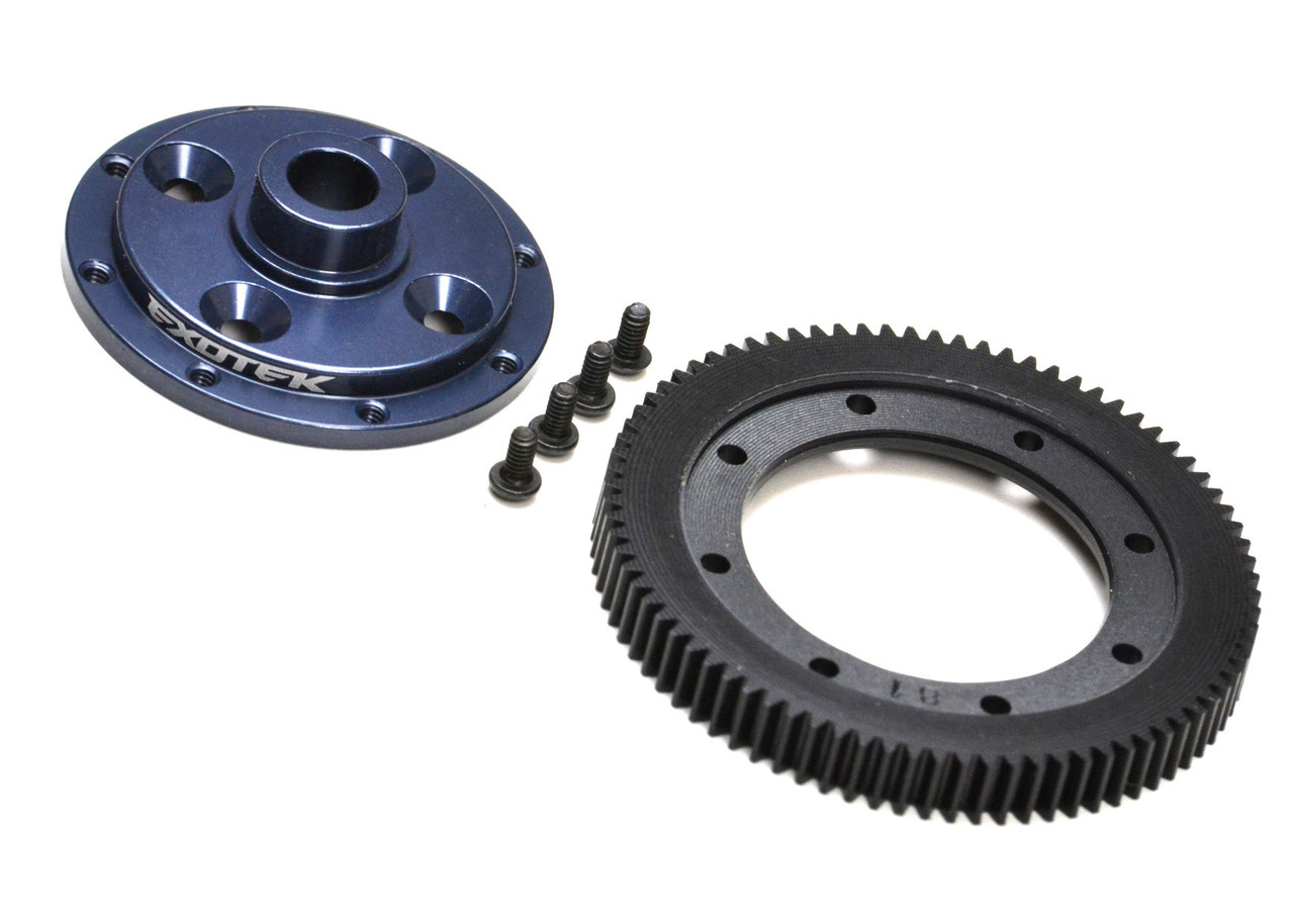 1798 EB410 MACHINED 81 SPUR GEAR AND MOUNTING PLATE