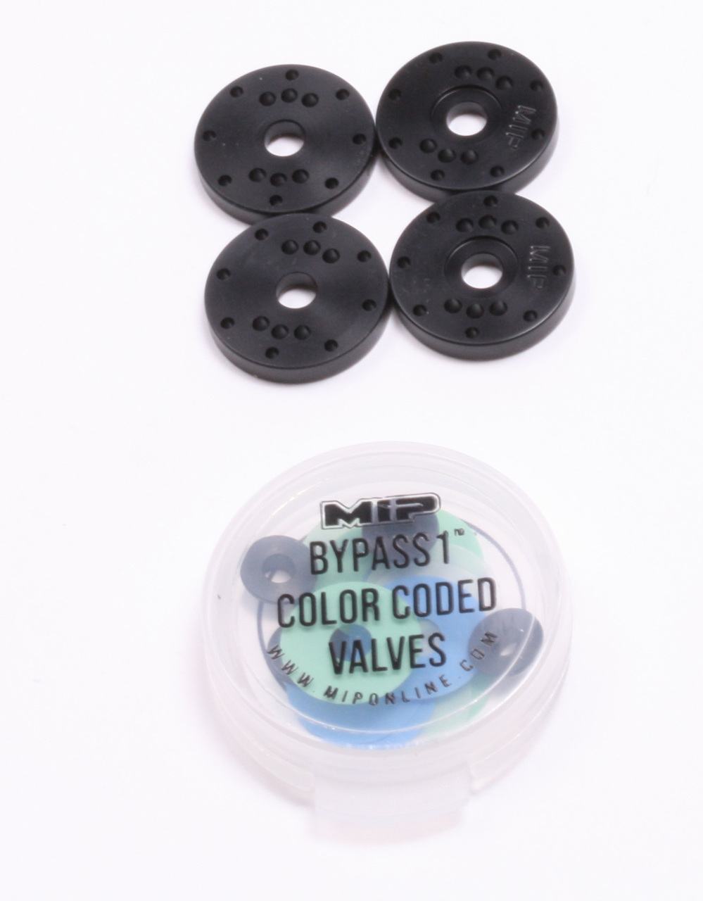 #18410 - MIP Bypass1™ Pistons, 8-Hole Set, 16mm, Mugen 1/8th