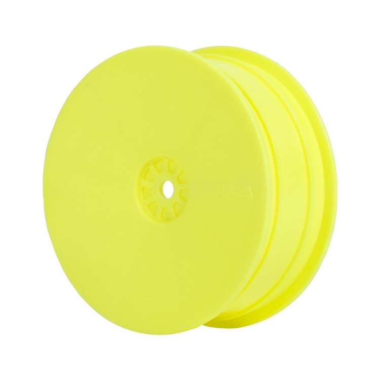 1:10 HEXLITE 2WD FRONT WHEEL YELLOW (KYO/AE)