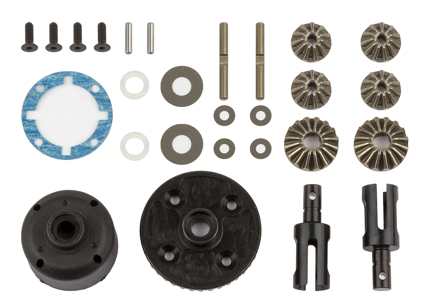 ASC92134 RC10B74 Differential Set, front and rear