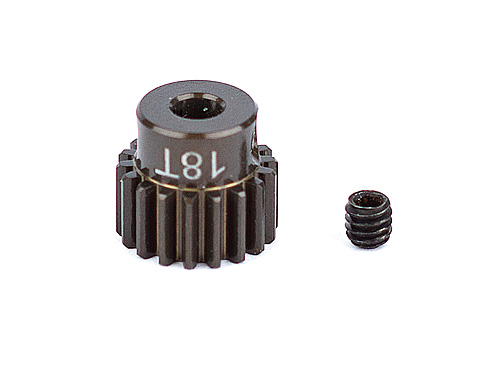 ASC1336 FT Aluminum Pinion Gear, 18T 48P, 1/8 shaft