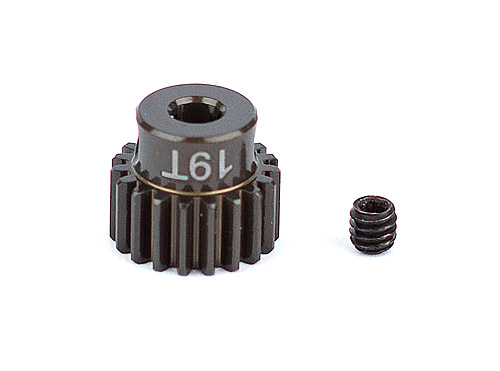 ASC1337 FT Aluminum Pinion Gear, 19T 48P, 1/8 shaft