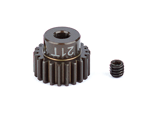 ASC1339 FT Aluminum Pinion Gear, 21T 48P, 1/8 shaft