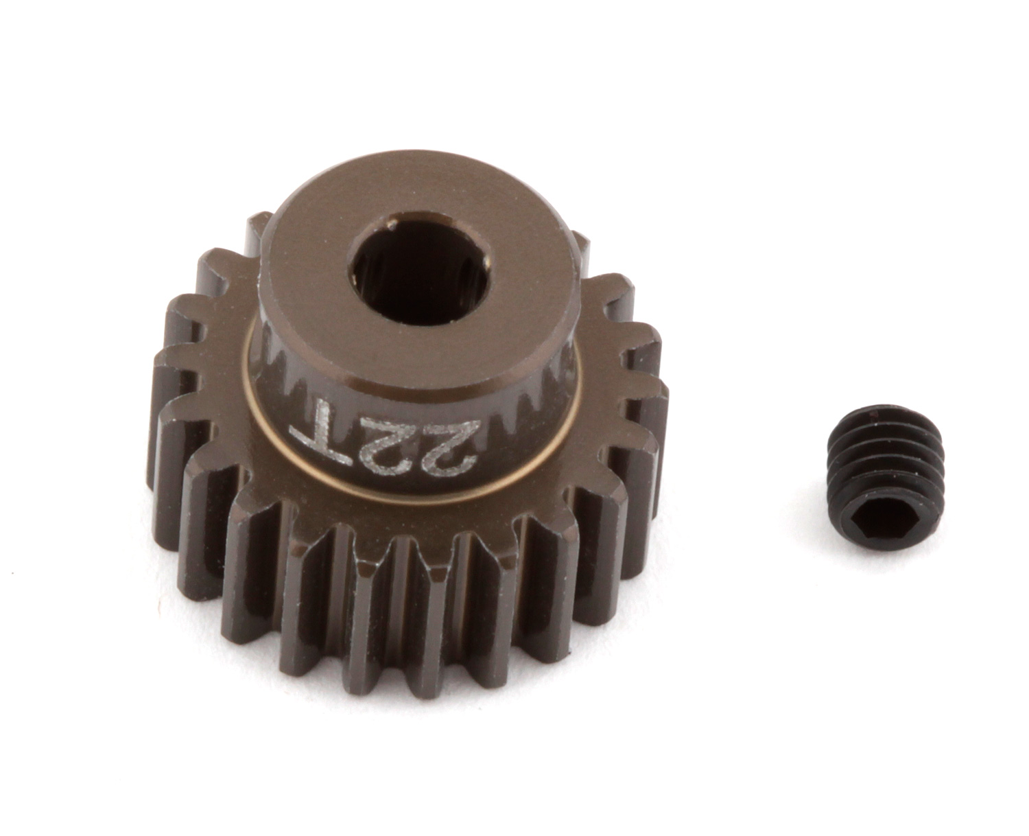 ASC1340 FT Aluminum Pinion Gear, 22T 48P, 1/8 shaft