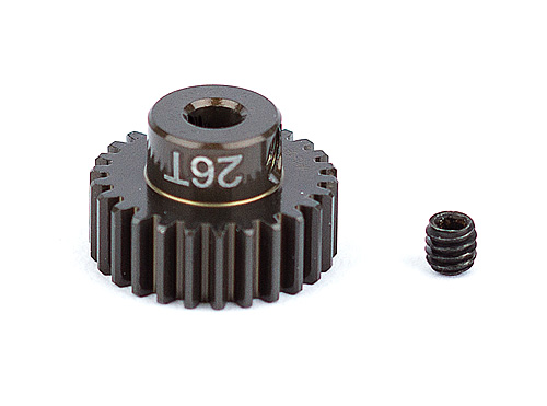 ASC1344 FT Aluminum Pinion Gear, 26T 48P, 1/8 shaft
