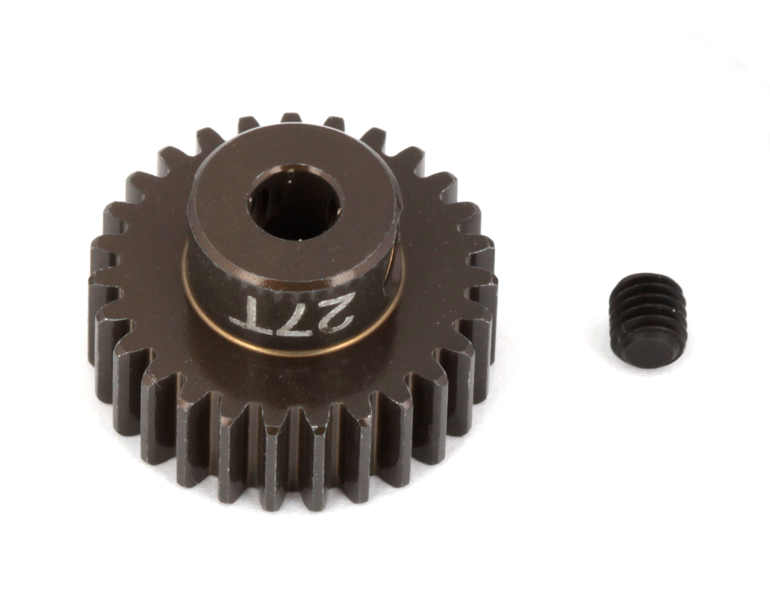 ASC1345 FT Aluminum Pinion Gear, 27T 48P, 1/8 shaft