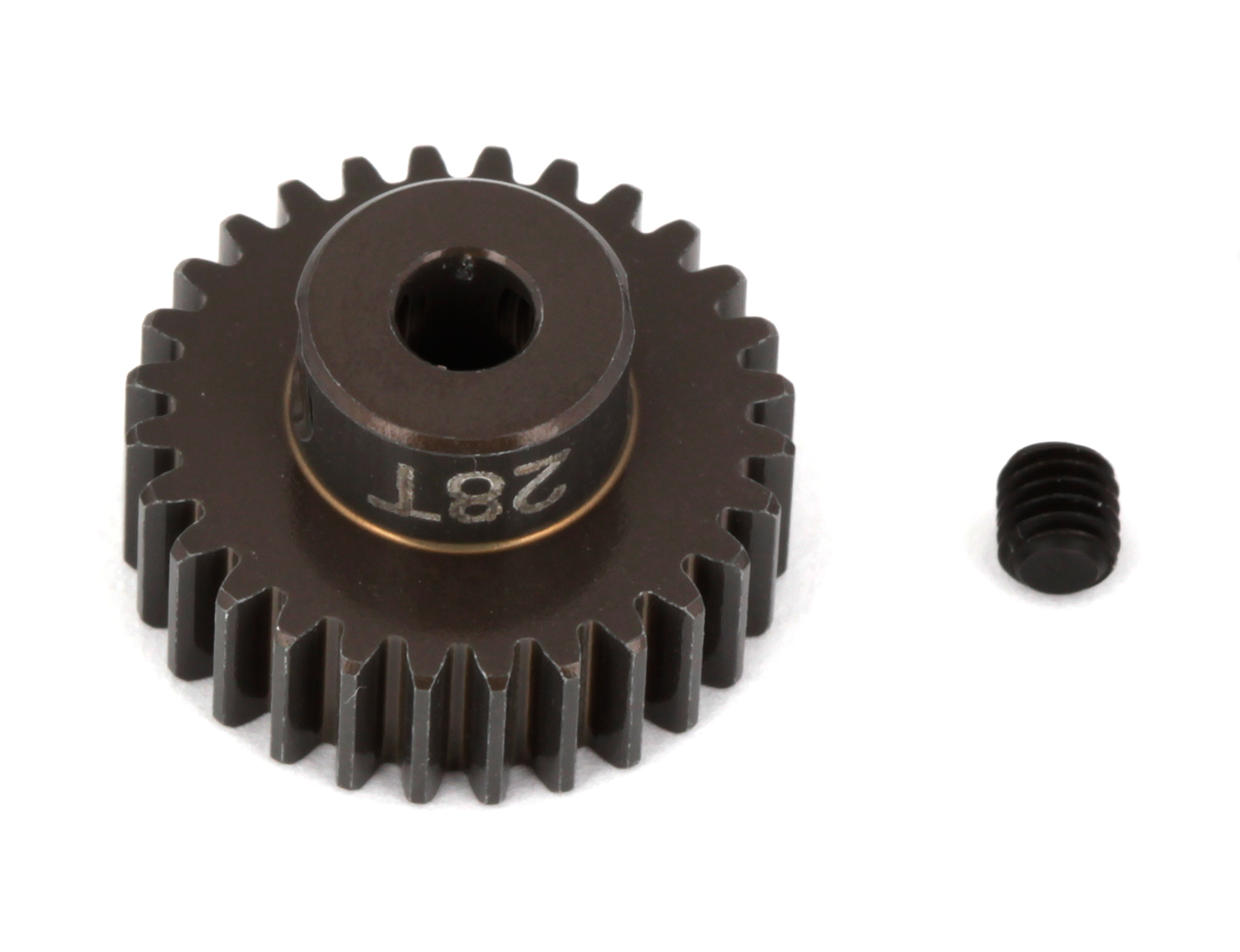 ASC1346 FT Aluminum Pinion Gear, 28T 48P, 1/8 shaft