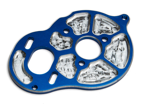 ASC91547 Factory Team Milled Motor Plate, blue
