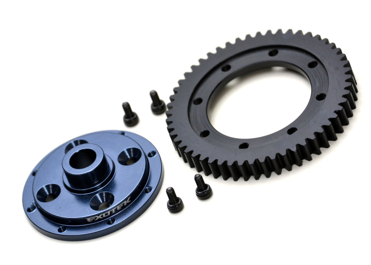 EXO1909 ET410 MACHINED 32P SPUR GEAR AND MOUNTING PLATE