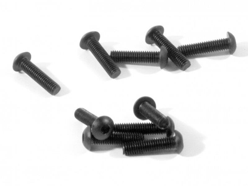 HBZ354 RACING BUTTON HEAD SCREW M3x12mm (HEX SOCKET/10pcs)