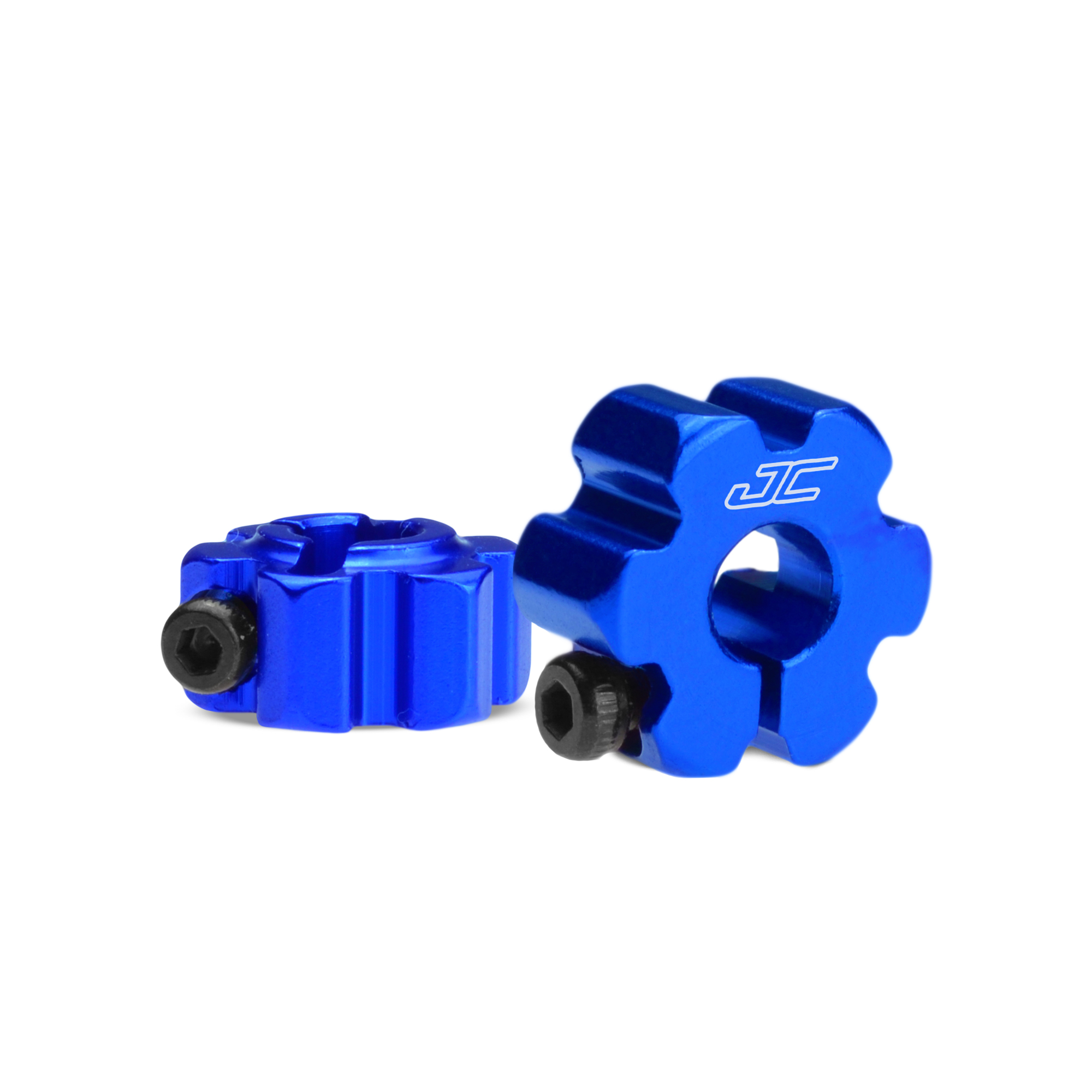 RC10B5 | B5M, aluminum, ultra rear wheel hexes Blue