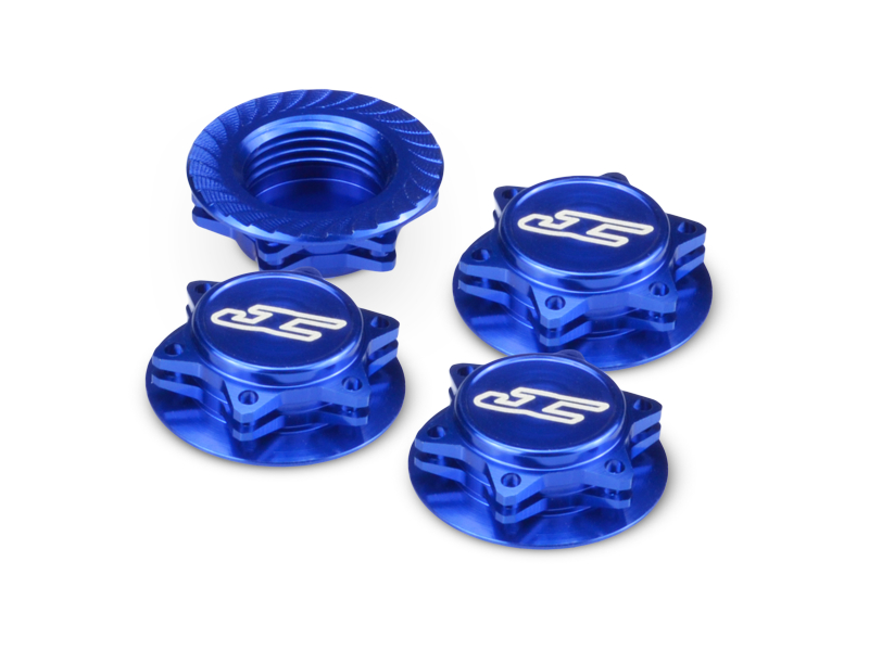 Fin, 1/8th Serrated Light-weight Wheel Nut Blue