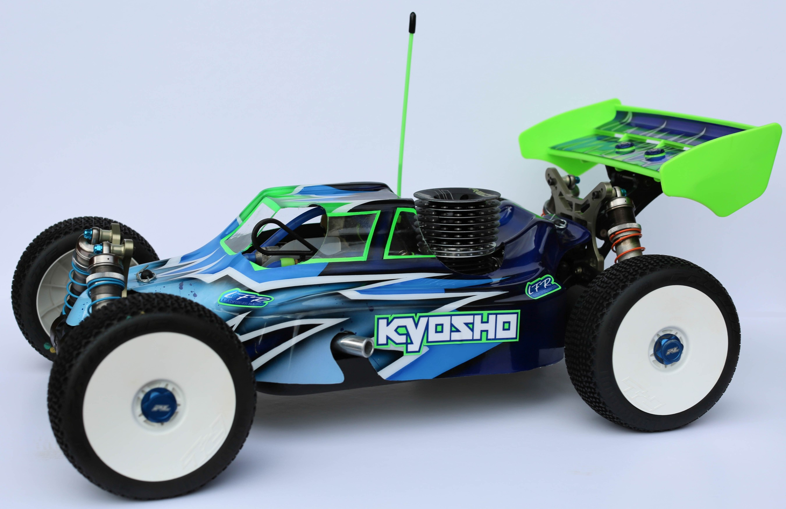 Leadfinger LFR Assassin body (clear) for Kyosho MP9 nitro buggy