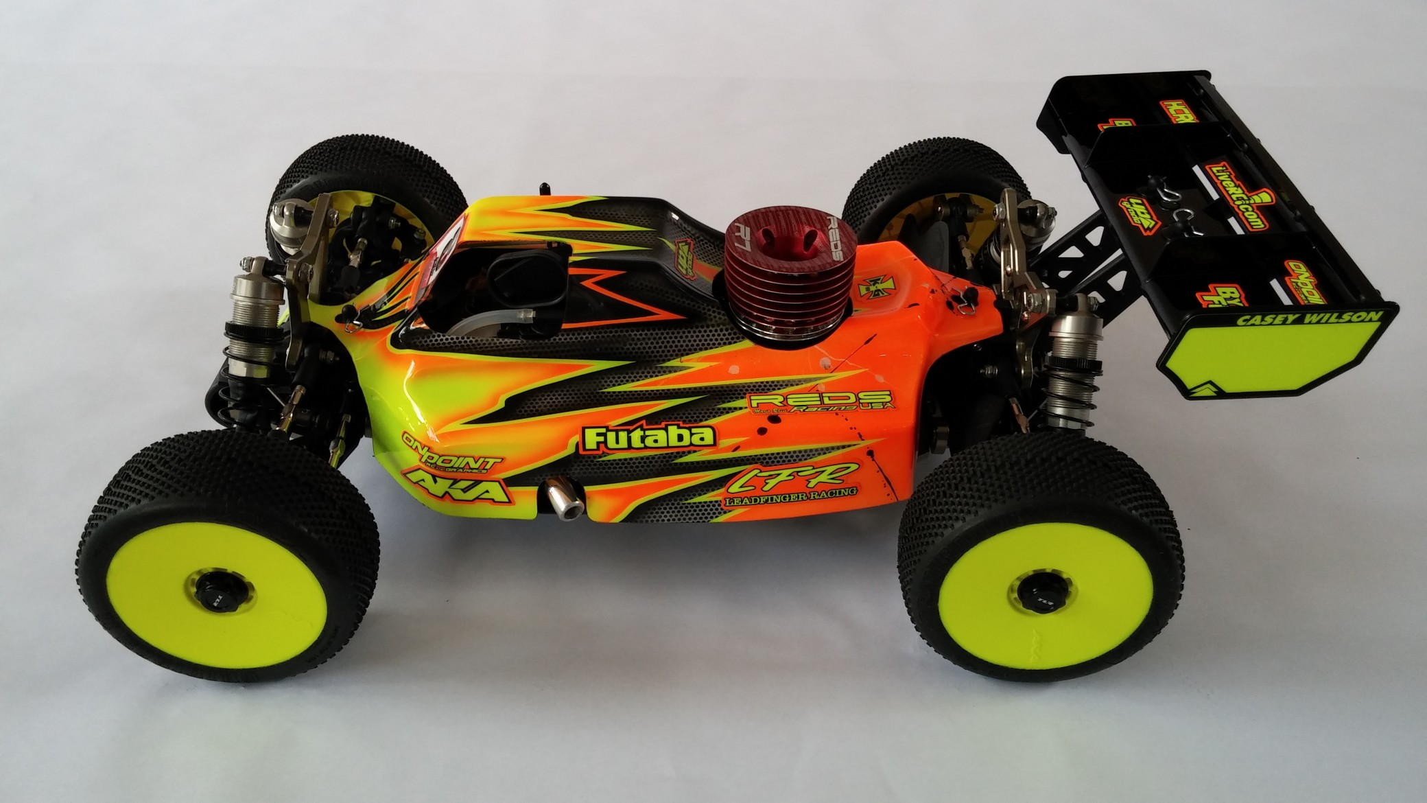 Leadfinger LFR Assassin body (clear) for TLR 3.0 nitro buggy