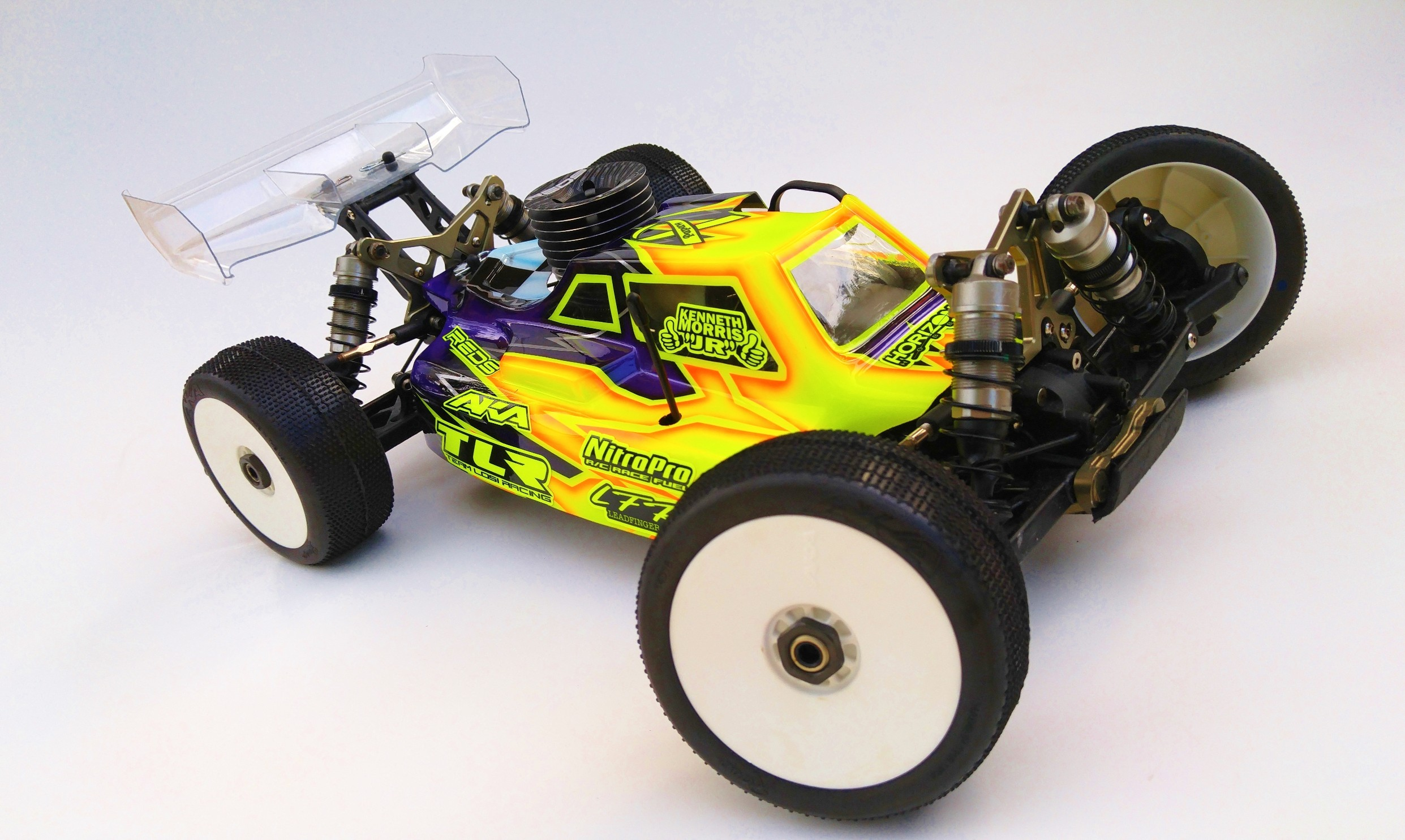 Leadfinger LFR Assassin body (clear) for the TLR 4.0 nitro buggy