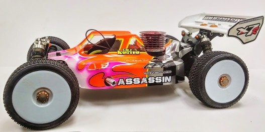 Leadfinger LFR Assassin body (clear) for Mugen MBX7/8 R nitro buggy