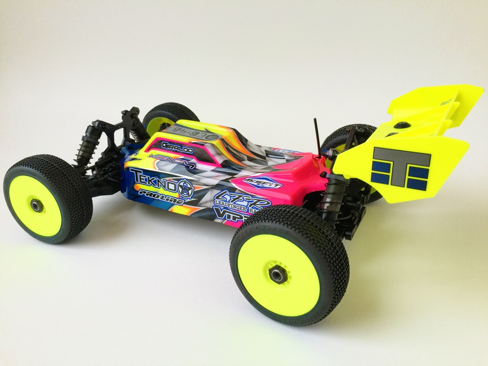 Leadfinger LFR Assassin body (clear) for Tekno EB48-EB48.4 electric buggy