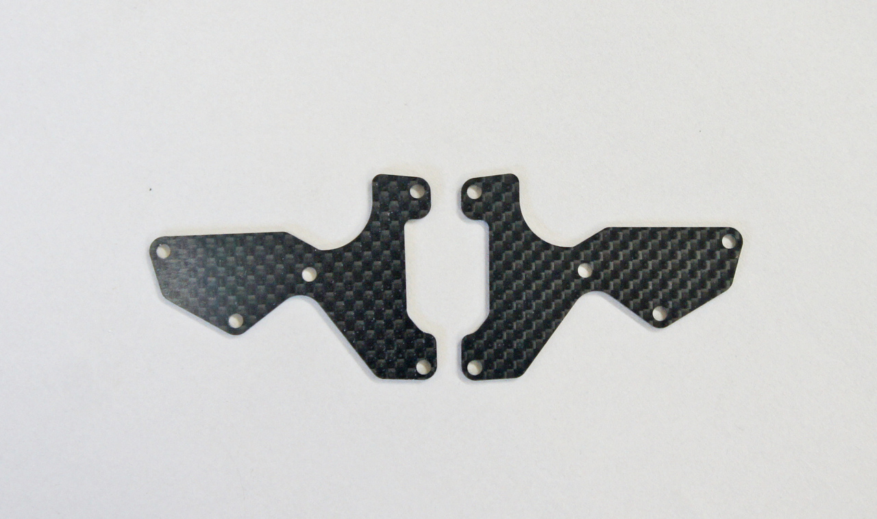 E2154 Graphite Front Lower Suspension Arm Mount Plate 2pcs (1mm)