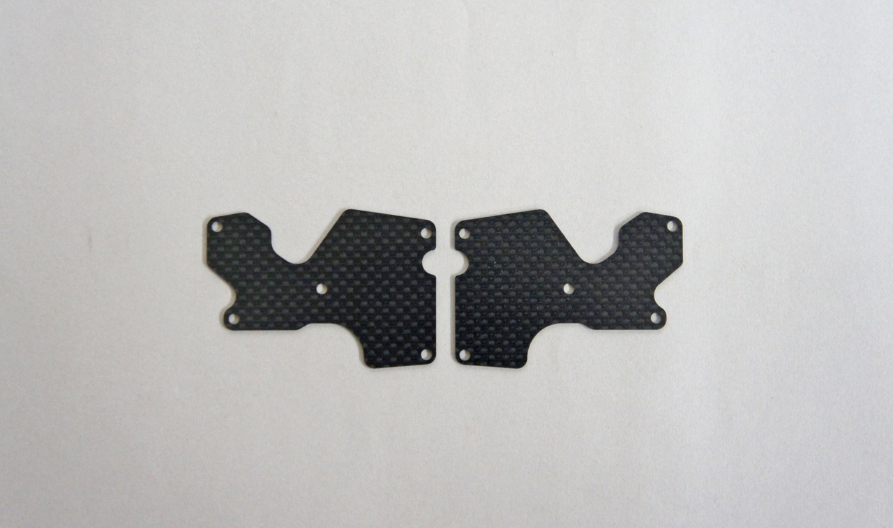 E2156 Graphite Rear Lower Suspension Arm Mount Plate 2pcs (1mm):