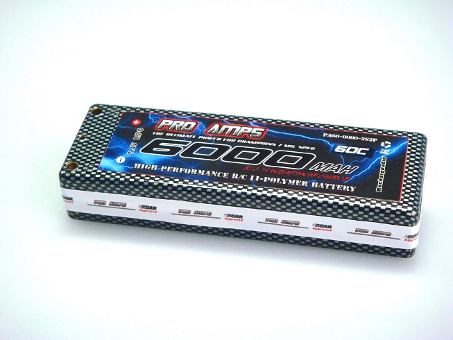 6000MAH 2S HV The Pro Amps 6000mah HV 2S 60c Hard Case LiPo