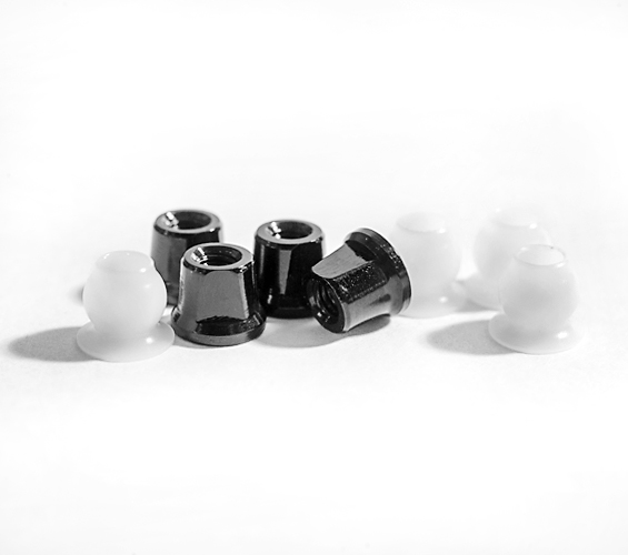 B5 Aluminum Shock Standoffs, Black