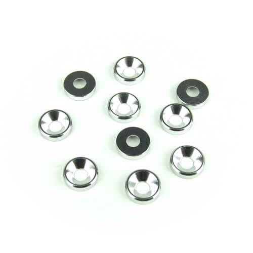 TKR1220 - M3 Countersunk Washers (aluminum, natural, 10pcs)