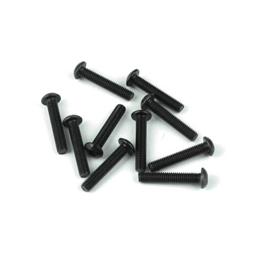 TKR1407 – M3x16mm Button Head Screws (black, 10pcs)