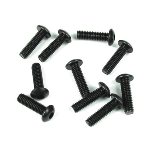 TKR1445 – M4x14mm Button Head Screws (black, 10pcs)