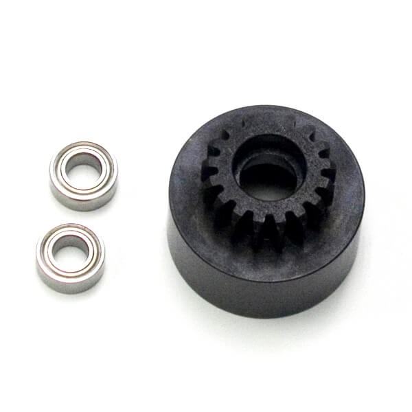 1/8th Clutch Bell (hardened steel, Mod 1, 17t, w/bearing