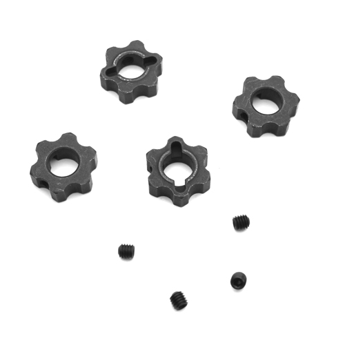 TKR5571M - Wheel Hexes (steel w/ set screw, lightened, 12mm, SCT