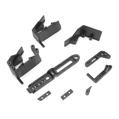 TKR6586 - Side Guard, Servo Mount, Battery Acc. (EB410)