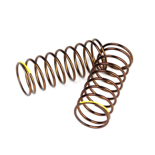 TKR7235 - Shock Spring Set (front,1.4×9.375,4.00lb/in,50mm, yellow