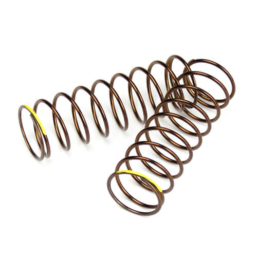 TKR7245 - Shock Spring Set (rear,1.3×9.875,2.82lb/in,63mm, yellow