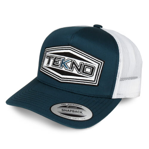 TKRHAT11R–Tekno RC Patch Trucker Hat(round bill, mesh back, adj