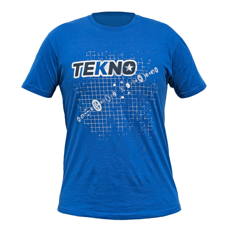 Tekno RC T-Shirt (diff blueprint, Next Level, dark blue) Small