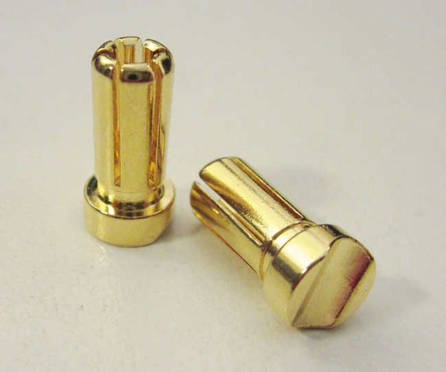 TQR2509 5MM GOLD PLATED 13MM LONG BULLET