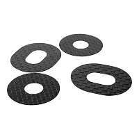 1up Carbon Fiber Body Washers - Adhesive Backed - 1/8 Off-Road - (4 Pack)