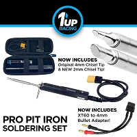 1up Racing Pro Pit Iron Soldering Set w/DC Cable & Leather Pouch