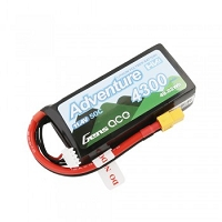 Gens Ace Adventure High Voltage 4300mAh 3S1P 11.4V 50C Lipo Battery with XT60 Plug