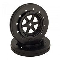 DE Racing Gambler Wheels for Accelerator Tires / BLACK