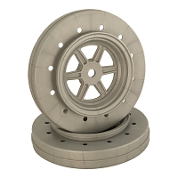 DE Racing Gambler Wheels for Accelerator Tires / SILVER