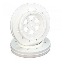 DE Racing Gambler Wheels for Accelerator Tires / WHITE
