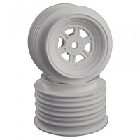 DE Racing Gambler Rear Wheels for Late Model / MWM / Street Stock / 12mm Hex / AE -TLR / WHITE