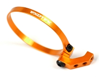 1718 EXOTEK FAN MOUNT- CLAMP ON SET, 1/10 BUGGIES,TRUCK, SEDAN Black (Orange)