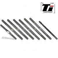 Lundsford 3.5mm SUPER DUTY Titanium Turnbuckle Kit for Team Associated RC10B74