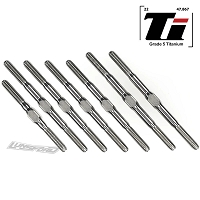 Lundsford 3mm PUNISHER Titanium Turnbuckle Kit for Team Associated RC10B74