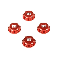 TKR5116BR – Wheel Nuts (T Logo, 17mm, serrated, red, 4pcs)