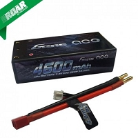 Gens ace 4600mAh 7.4V 60C 2S2P HardCase Lipo Battery Shorty Pack 29# with 4.0mm bullet to Deans plug