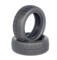 Raw Speed Stage Two 2W Buggy Front Tire - Clay with Black Insert