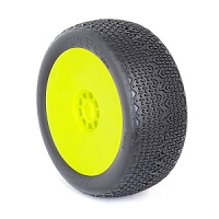 1:8 BUGGY TYPO (CLAY) EVO WHEEL PRE-MOUNTED YELLOW